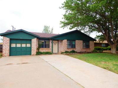 Lubbock TX Single Family Home For Sale: $95,000