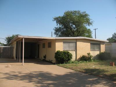Lubbock TX Single Family Home Under Contract: $28,000