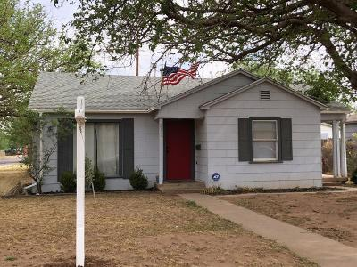 Lubbock Single Family Home Under Contract: 2520 36th Street
