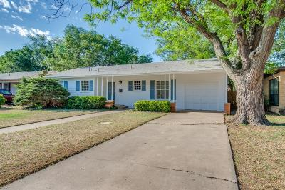 Lubbock Single Family Home Under Contract: 3807 23rd Street