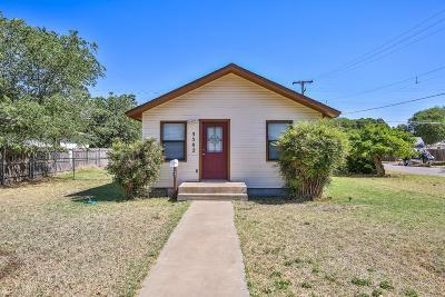 Lubbock TX Single Family Home Under Contract: $69,950