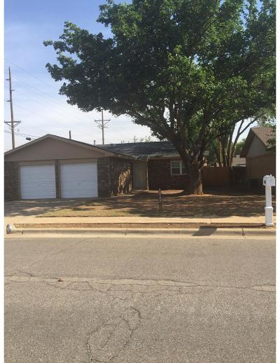 Lubbock TX Single Family Home Under Contract: $141,000