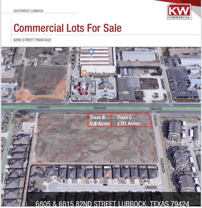 Lubbock Commercial Lots & Land For Sale: 6805 82nd Street