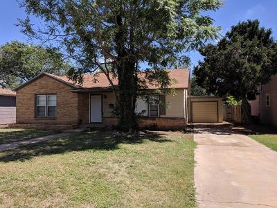 Lubbock TX Single Family Home For Sale: $99,800