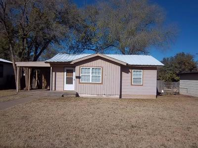 Lubbock Single Family Home Under Contract: 4512 45th Street