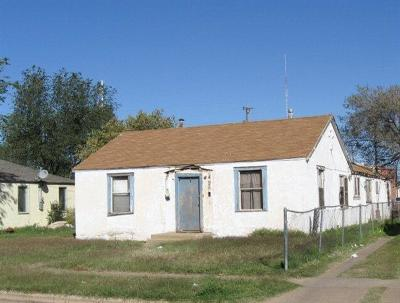 Lubbock TX Single Family Home For Sale: $38,000