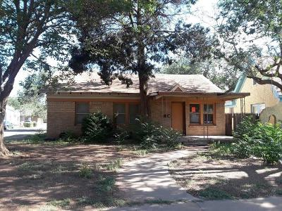 Lubbock Single Family Home For Sale: 1724 27th Street