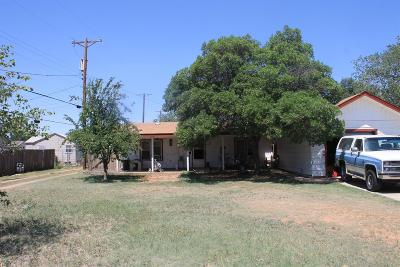Lubbock TX Single Family Home For Sale: $70,000
