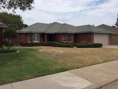 Lubbock Single Family Home Under Contract: 5414 71st Street