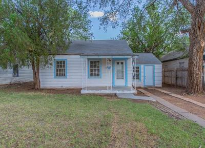 Lubbock TX Single Family Home For Sale: $60,000