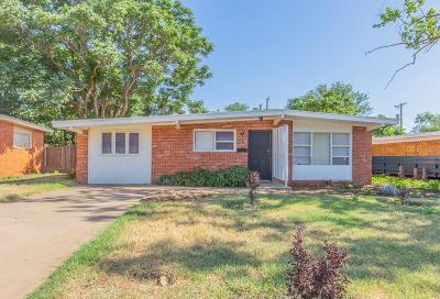 Lubbock TX Single Family Home For Sale: $88,500