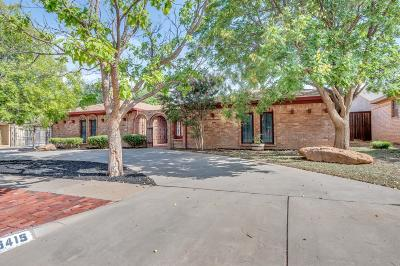 Lubbock Single Family Home For Sale: 5415 76th Street