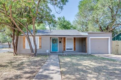 Lubbock Single Family Home For Sale: 3101 30th Street