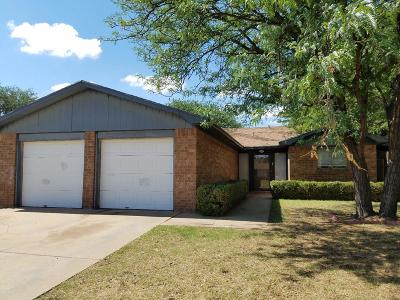 Lubbock Single Family Home Under Contract: 5741 Emory Street
