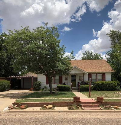 Idalou TX Single Family Home For Sale: $129,400
