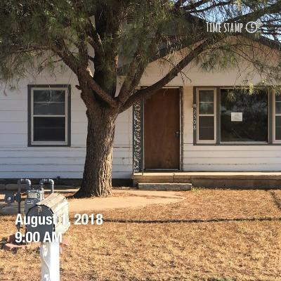 Lubbock TX Single Family Home Under Contract: $31,500