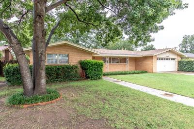 Lubbock Single Family Home Under Contract: 2707 59th Street