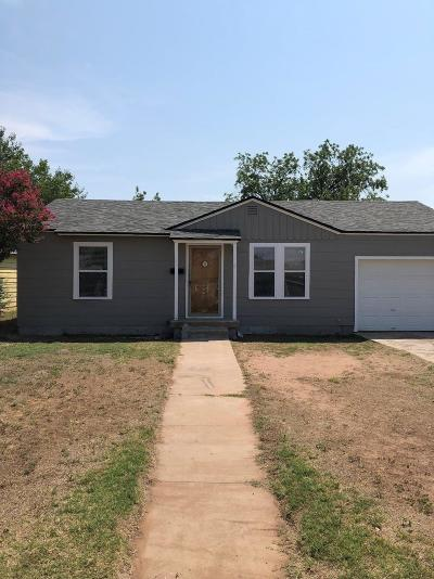 Lubbock TX Single Family Home For Sale: $91,000
