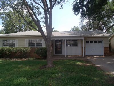Lubbock TX Single Family Home For Sale: $84,800