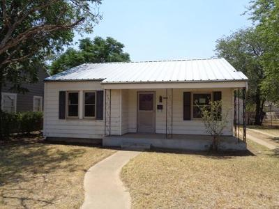 Lubbock TX Single Family Home For Sale: $28,000