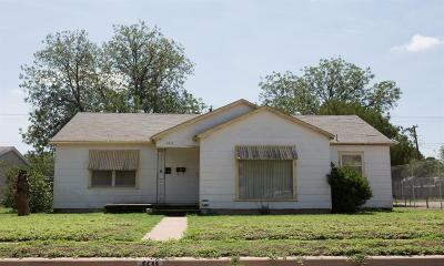 Lubbock County Single Family Home Under Contract: 1611 28th Street