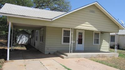 Slaton Single Family Home Under Contract: 240 W Panhandle Street