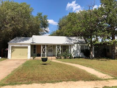 Lubbock County Single Family Home Under Contract: 3704 26th Street