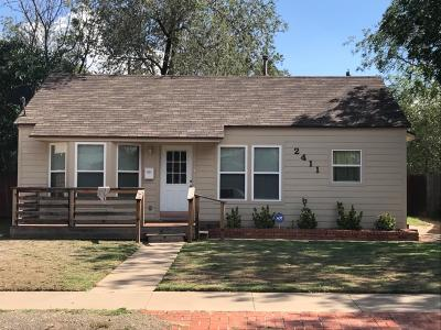 Lubbock Single Family Home For Sale: 2411 24th Street