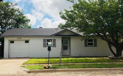 Lubbock Single Family Home Under Contract: 3407 Juneau Avenue