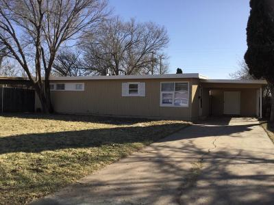 Lubbock County Single Family Home Under Contract: 2213 47th Street