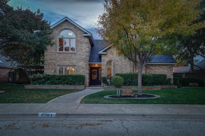 Lubbock Single Family Home Under Contract: 8704 Toledo Avenue