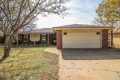 Lubbock Single Family Home For Sale: 3309 89th Street