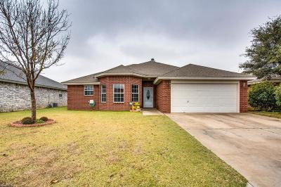 Lubbock Single Family Home For Sale: 3109 103rd Street