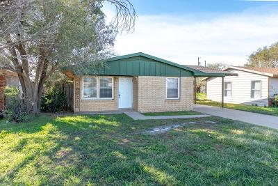 Lubbock TX Single Family Home For Sale: $65,000