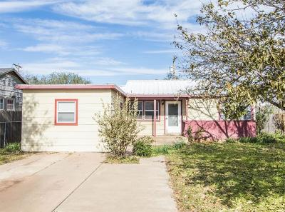 Lubbock Single Family Home Under Contract: 508 52nd Street