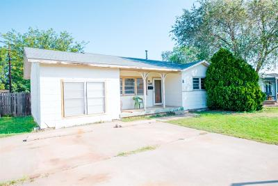 Lubbock TX Single Family Home For Sale: $55,000