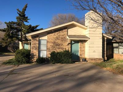 Lubbock Multi Family Home Under Contract: 6112 37th Street