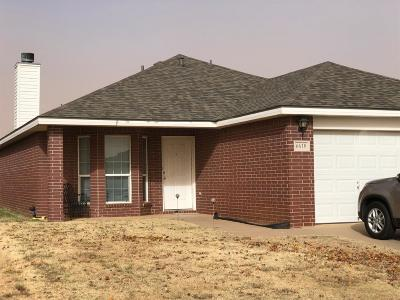 Lubbock Single Family Home Under Contract: 6610 90th Street
