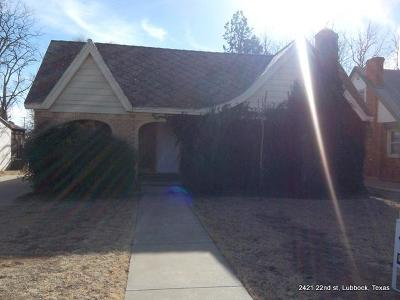 Lubbock Rental For Rent: 2421 22nd Street