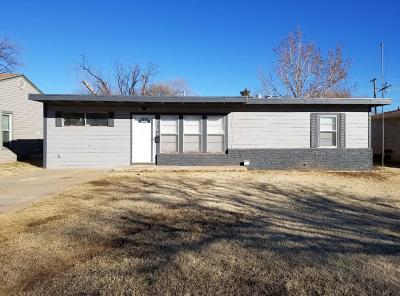 Lubbock TX Single Family Home For Sale: $99,900