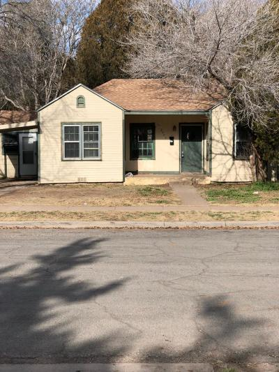 Lubbock County Single Family Home Under Contract: 2404 27th Street