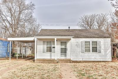 Lubbock County Single Family Home Under Contract: 2016 36th Street