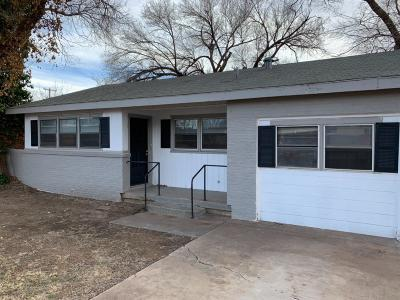 Lubbock County Single Family Home Under Contract: 3813 25th Street