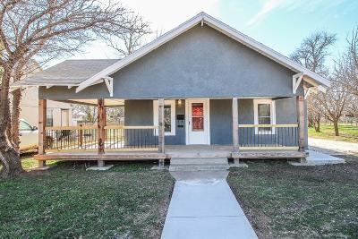 Slaton Single Family Home Under Contract: 525 W Garza Street