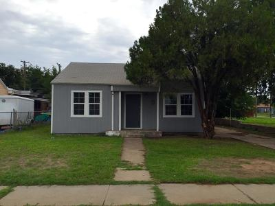 Lubbock Single Family Home For Sale: 1321 25th Street