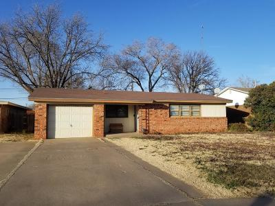 Lubbock County Single Family Home Under Contract: 2816 55th Street
