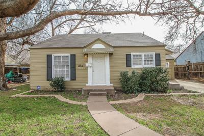 Lubbock Single Family Home For Sale: 2315 28th Street