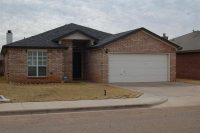 Lubbock Single Family Home For Sale: 2307 99th Street
