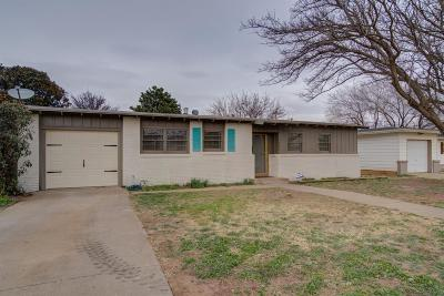 Lubbock Single Family Home Under Contract: 4204 37th Street