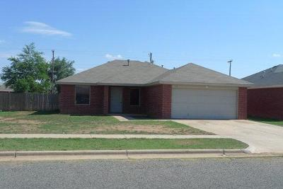 Lubbock Single Family Home Under Contract: 315 80th Street